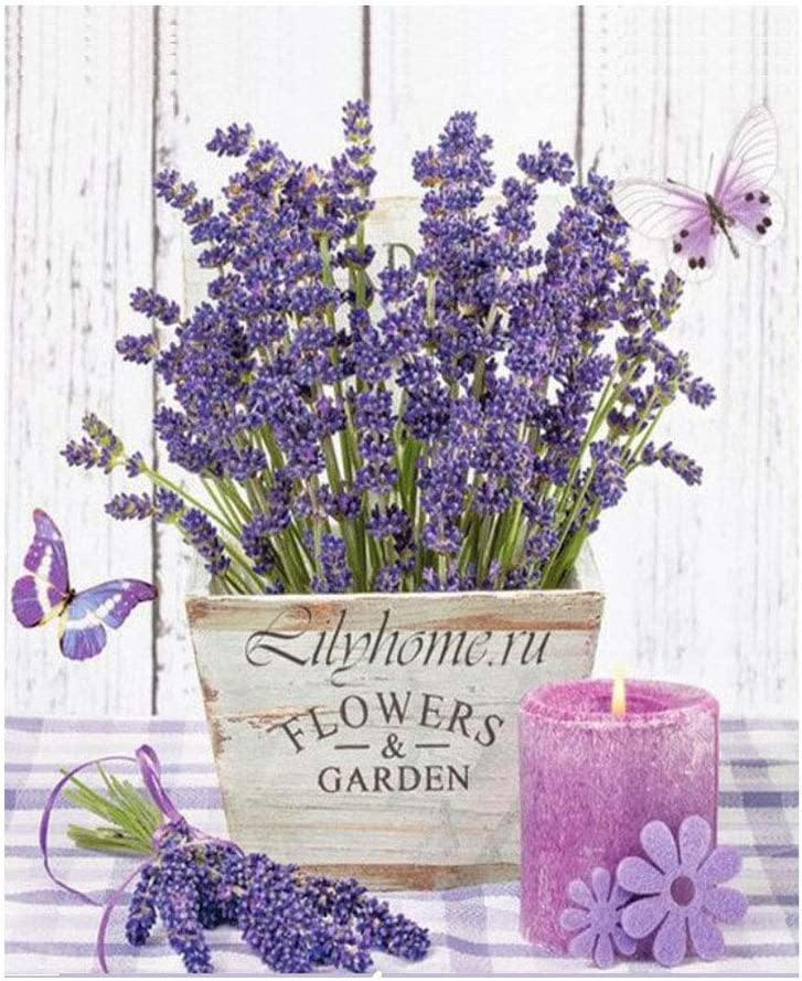 Anbys 2021 new Purple Flower Diamond Max 80% OFF Painting Kits for 5D Adults DI Kids