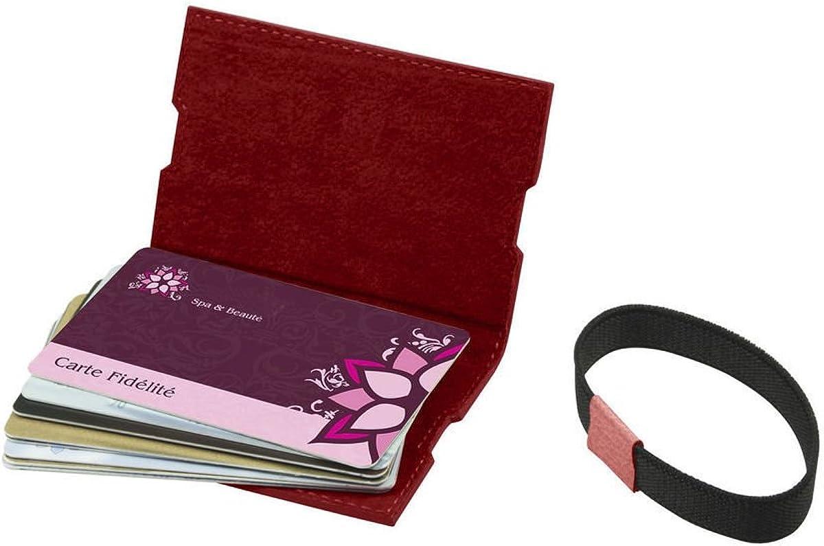 Lucrin Etui Für Kundenkarten Mausgrau Leder Genarbt Bekleidung