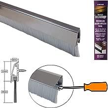 Burlete para puerta con cepillo 914 mm Stormguard 02SR0720914CH cromado gris