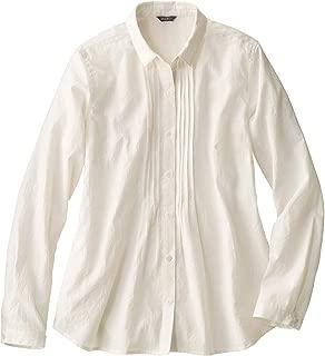 (エディー・バウアー) Eddie Bauer レディース 長袖シャツ 長袖ピンタックフロントシャツ