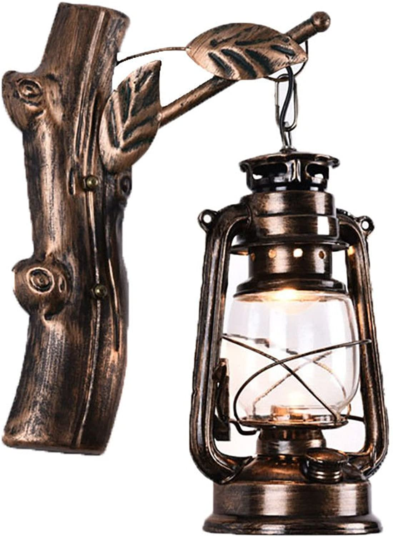 Bronze alte retro bar restaurant cafe flur lampe schmiedeeisen zweig bltter pferd lampe wandleuchte, 16x36x13 cm