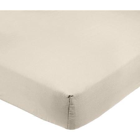 Amazon Basics AB Microfiber, Microfibre Polyester, Beige, 135x190x30cm