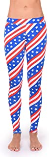 Women's Patriotic USA Stars & Stripes Leggings - American Flag Leggings