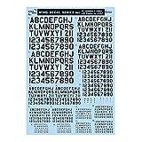 サンコーマーク工業 レプトジーダ プラモデル用 水転写 M03 45度 Numbers&Letters with Shadow 黒 13.5×19.5cm WING DECAL SERIES WM-09