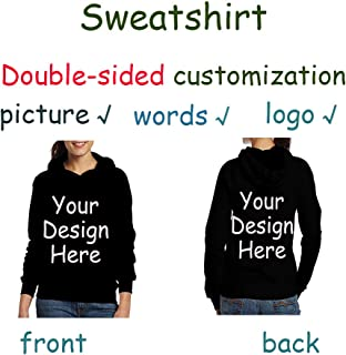 Custom Sweatshirt Hoodie Pullover Personalized Double-Sided Customization