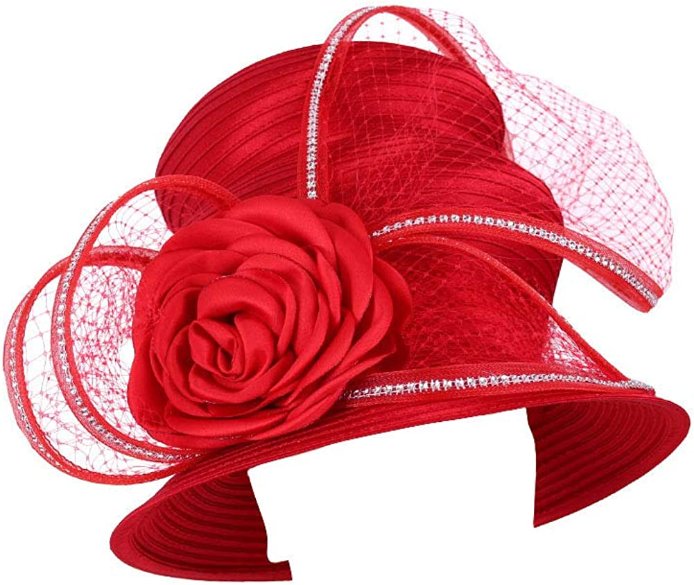 Ms. Divine Collection Women's Satin Outlet sale Finally popular brand feature Derby Church Formal Hat