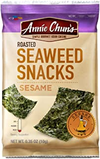 ANNIE CHUN'S, Seaweed Snk, Og2, Sesame, Pack of 12, Size .16 OZ, (Gluten Free Vegan 95%+ Organic)