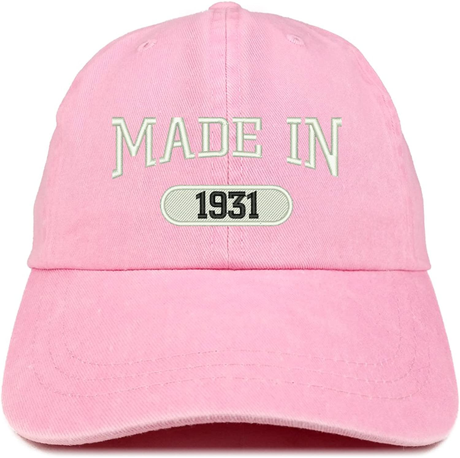Trendy Apparel Shop Made in 1931 Embroidered 88th Birthday Washed Baseball Cap