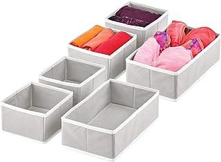 mDesign boîte de Rangement (Set de 6) – bac de Rangement en 2 Tailles différentes pour Chambre de bébé – corbeilles de Ran...
