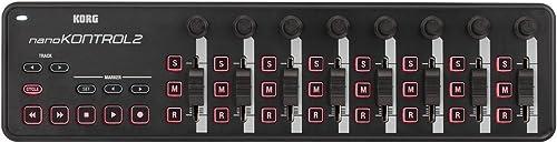 KORG KO-NANOKNTRL2BK NanoKontrol 2 Slim-Line USB MIDI Controller, Black