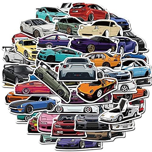 LYDP 50 cartoon Cartoon Auto Sportiva Iniziale D Graffiti Handconto Adesivi Bagagli Adesivi Trasparente Cover Cover Cover Adesivo Decorativo
