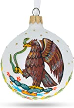 BestPysanky Coat of Arms of Mexico Glass Ball Christmas Ornament