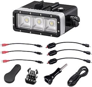 Suptig Wasserdichtes Licht, dimmbar, 5200 mAh Akku, wasserdichtes LED Video Licht, Füllung, Nachtlicht, Tauchen, Unterwasserlicht für GoPro Hero 7 Hero 6, Hero 5, Hero 4, Hero 3+, Hero 3