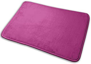 Amanda Walter Felpudo Interior Medio Rojo Violeta Color sólido Elegante Felpudo de Bienvenida Entrada Alfombrillas Antides...