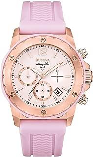 Bulova 98M118 Ladies Marine Star Lavender Chronograph Watch