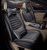 FREESOO Juego de fundas para asientos delanteros trasero completo de coche Cubierta Cojines de asiento para 5 asientos Vehículo universal 7 piezas set