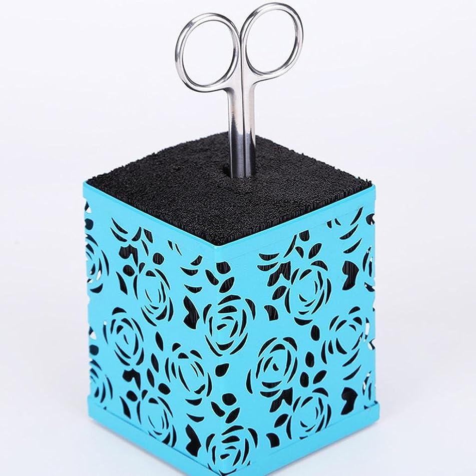 Scissor Holder,KingWo Professional Hair Scissor Holder Hair Salon Tools Holder Hair Scissor Case For Barber Scissor Socket (blue)