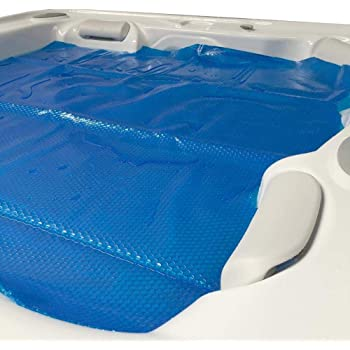 In The Swim 8 x 8 Foot Spa and Hot Tub Solar Blanket Cover 15 Mil