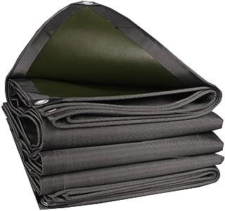 Kin Thick PVC Tarpaulin Waterproof Sun Protection Sunscreen Rainproof Windproof Tarpaulin Camping & Hiking