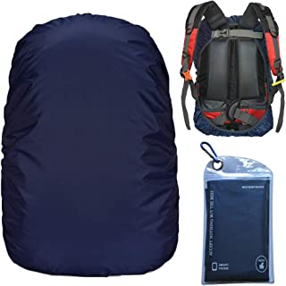 Gryps Waterproof Backpack Rain Cover with Adjustable Anti Slip Buckle Strap & Sliver Coating Reinforced Inner Layer for Camping, Hiking, Traveling, Hunting, Biking and More(15-80L)