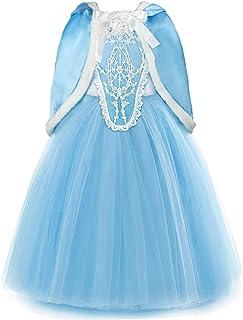 comprar comparacion Disco Ball Princesa Disfraz Frozen Elsa Anna Carnaval Navidad Halloween Cosplay Party verkleidung con ribete de piel Cape