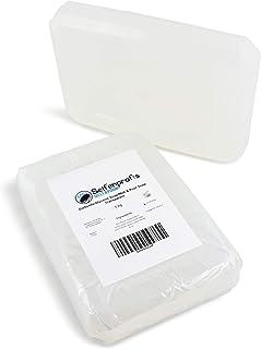 Seifenprofis Base de Savon Brut à la glycérine Transparent/Blanc sans laurylsulfate de Sodium (SLS) (1kg Transparent)