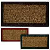 Parpyon Zerbino ingresso casa Classico cm 27X70 tappeto ANTISCIVOLO zerbino in cocco per interno zerbino da esterno tappeti moderni zerbini vari colori (Marrone27x70)