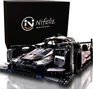 Nifeliz Super Sports Car q19 MOC Building Blocks and Engineering Toy, Adult Collectible Model Cars Kits to Build, 1/9.5 Race Car Model (1586 Pcs, Standard)