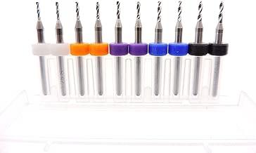10pc Short Length Micro Drill Bits Short Flute 1/4