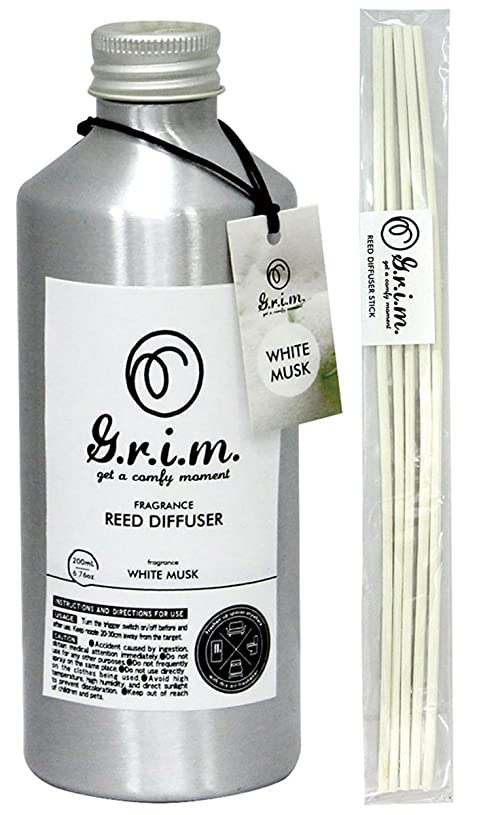 有名な控える野菜ノルコーポレーション リードディフューザー g.r.i.m ホワイトムスク 180ml OA-GRM-4-1