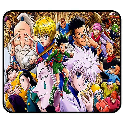 Hunter X Hunter Mouse pad - Non-Slip Mousepad Square Rubber Gaming Mouse Pads Anime Mouse pad 11.81 x 9.84 x 0.12Inch(30cm x 25cm x 0.3cm)