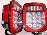 Fits Jeep TJ CJ YJ Replacement Tail Lights w/Bright Red LED's