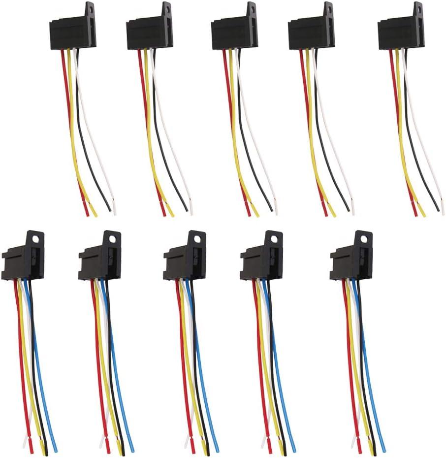 #N A 10x Max 72% OFF Car 12V 12Volt DC 40A OFFicial Relay 5 4 Pin Harness AMP Socket
