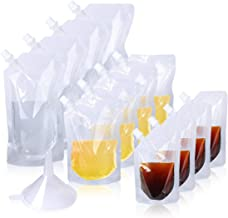 Plastic Drinkflessen, 12 Pack Herbruikbare Liquor Pouch Verstopbare Drink Pouch Plastic Drinkflacons met Tuit en Kleine Dr...