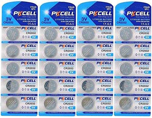 Pkcell 20X CR20323V batteria a bottone al litio 210mAh (4Blister ercards a 5Batterie) prodotto di marca FBA