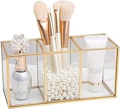 Sieraden doos sieraden opbergdoos for make-upborstels, make-up halter cosmetica organizer make-up borstel mok, goud transp...
