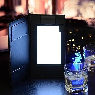 Yescom Folding LED Backlit Illuminated Black Leatherette Check Presenter/menu Holder