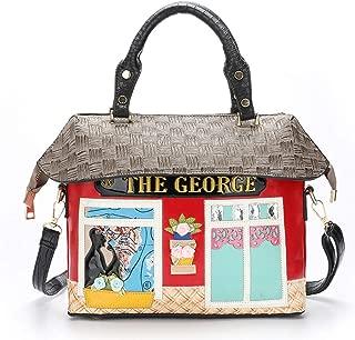 Fashion Fashion Lady Backpack/Handbag Exquisite Embroidery Handbag Creative Shoulder Diagonal Package (Color : Red)