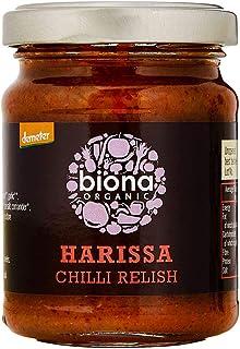Biona Salsa Ecológica Harissa Picante Con Guindillas - Vegana, Vegetariana, Paleo - Paquete 6 X 125 Ml
