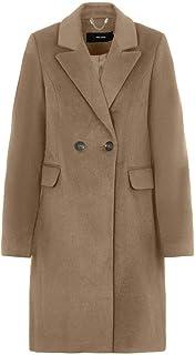 Vero Moda Vmseven Mr Smooth Coat Animal Pn GA Noos Manteau Femme