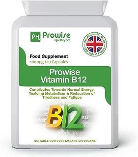 Vitamina B12 Metilcobalamina 100 mcg - 120 cápsulas - Fabricado en el Reino Unido | Estándares GMP