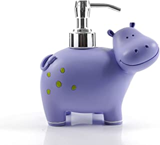 Wendin Cute animal cartoon hippo resin SPA Collection Liquid Soap dispenser Lotion pump Bath Accessory Soap Dispenser Pump The lotion can not too sticky or thick, add water or can not pumped out