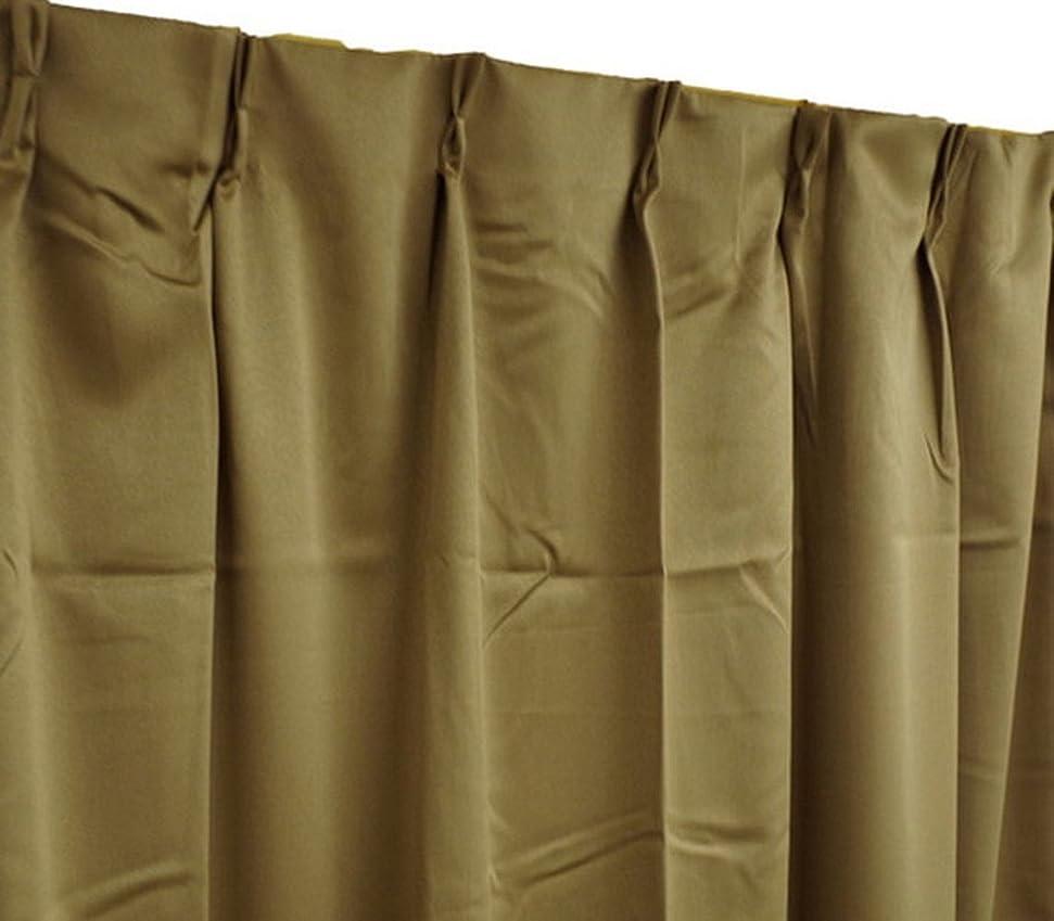 マーガレットミッチェルルーチン残基Arie(アーリエ) 遮光カーテン ペアリー 2枚組 100×178cm ブラウン
