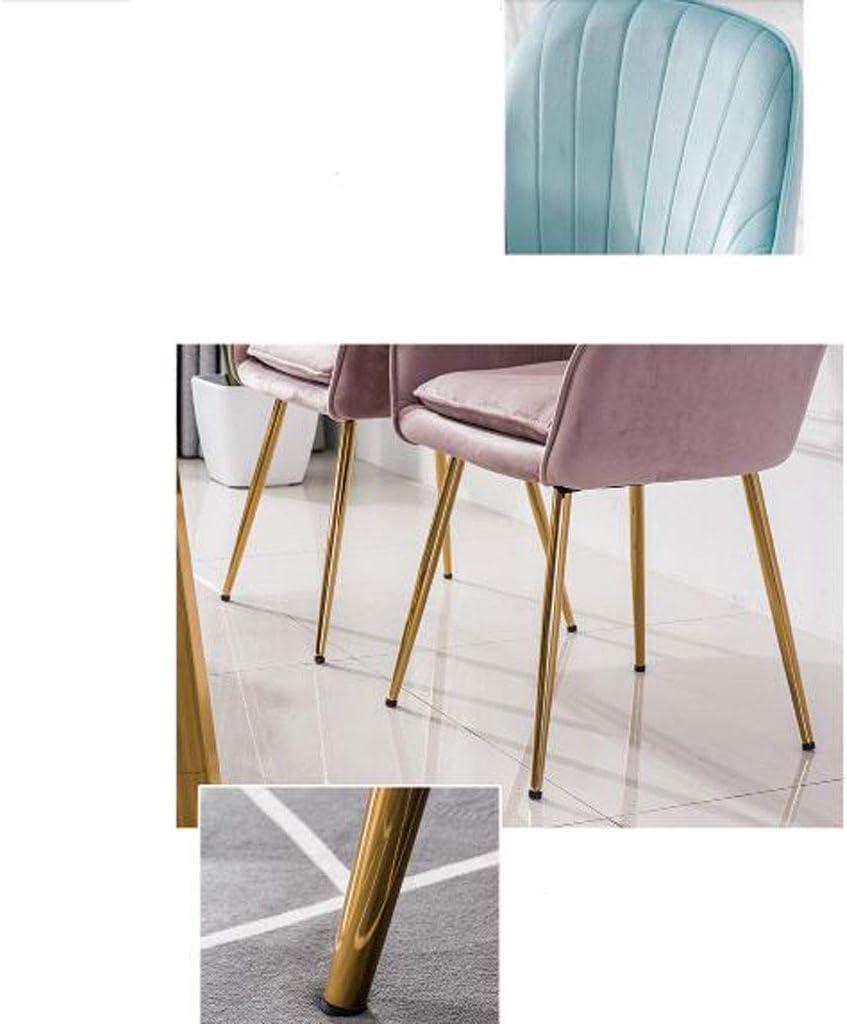 Chaise de salle à manger SLL Chaise de Maquillage Minimaliste Moderne Chaise de thé et de café Chaise de Chambre à Coucher Moderne (Color : A) A