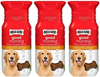 Milk-Bone Good Morning Daily Vitamin Treats Healthy Joints - Pack of 3, 6 Oz. Ea.