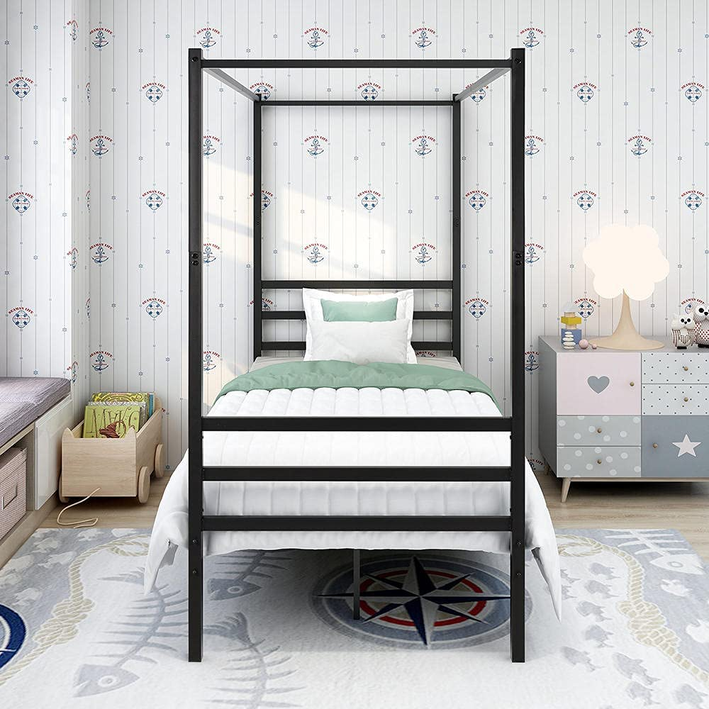 XZHYMJ Metal Max Max 70% OFF 64% OFF Canopy Bed Frame Mini with Twin Platform