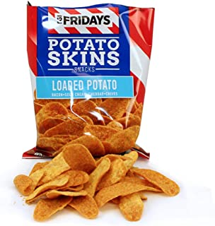 TGI Fridays Potato Snacks, Individual Servings (Loaded Potato Skins, 3 ounce (Pack of 6))