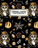 Cornell Notes Notebook: Mexican Festive Large Cornell Note Paper Notebook | College Ruled Medium Lined Journal Note Taking System for School and University | Awesome Lady Skull Pattern