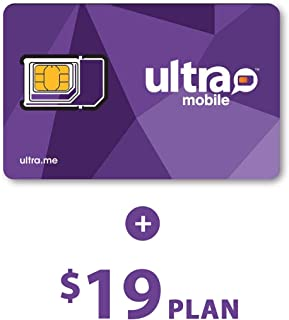 Ultra Mobile $19 Prepaid Calling Plan with 1 Month Service