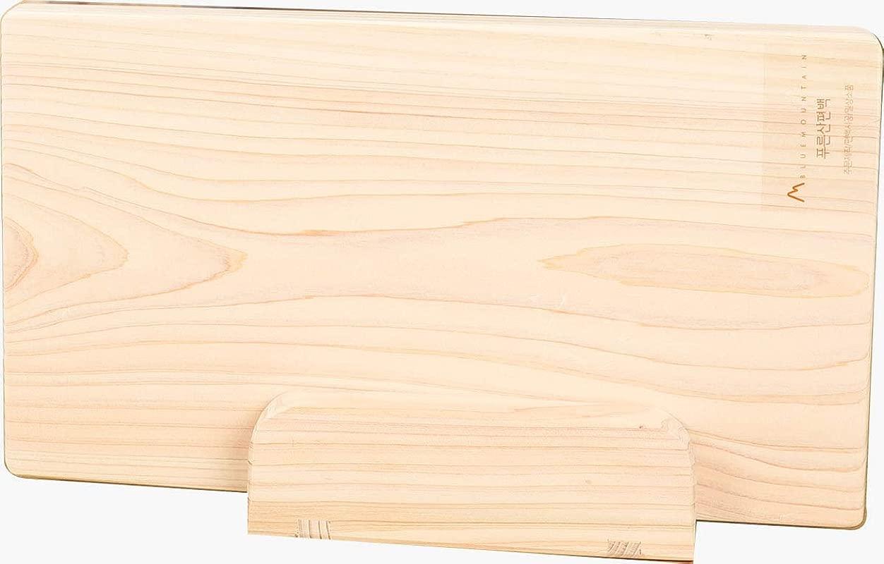 Hinoki Wood Cutting Board Set Large Small Holder